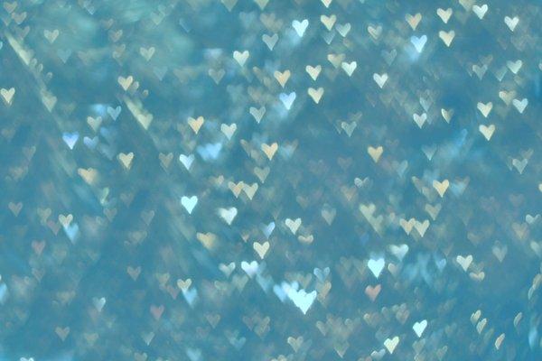 Heart Blue Texture Bokeh
