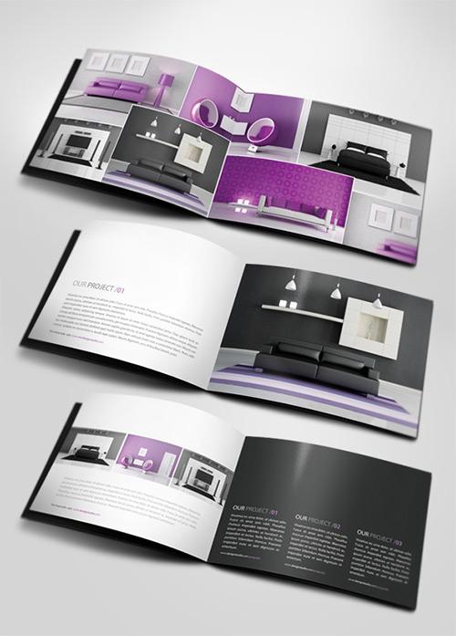 44 creative brochure designs print24 blog for Interior designs catalogue