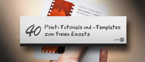 40 Print Tutorials Und Templates Zum Freien Einsatz Für Den