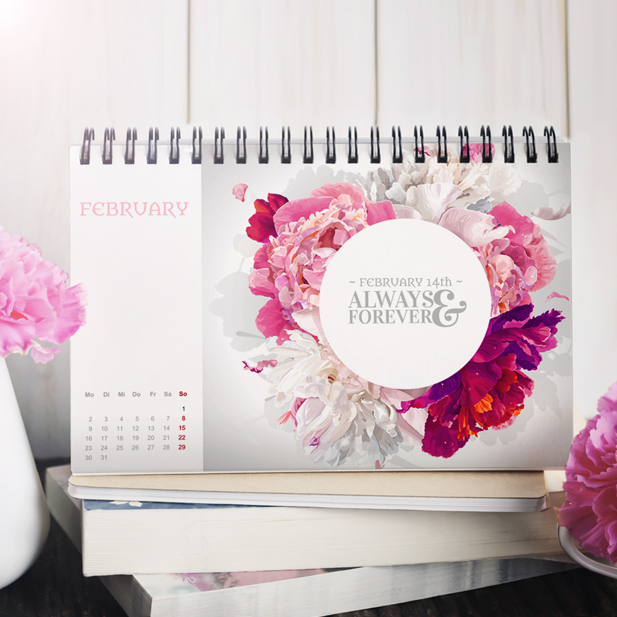 Praktische Vorlagen für Tischkalender und Wandplaner | print24 Blog