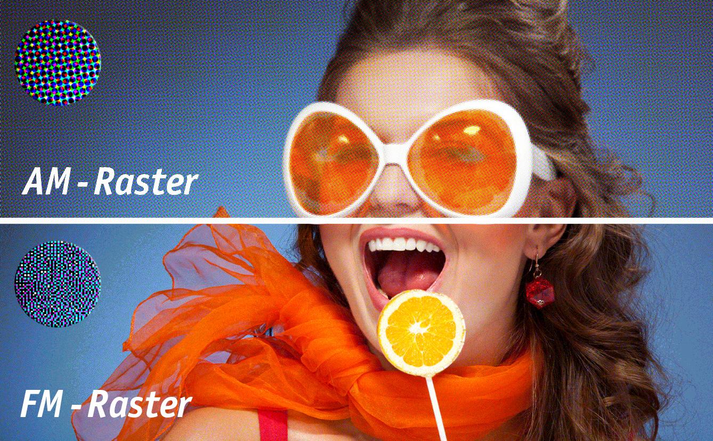 Offset Raster-Winkelung | Vergleich AM- und FM-Raster