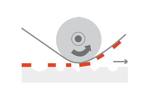 Grafik zum Druckverfahren-Prinzip Hochdruck