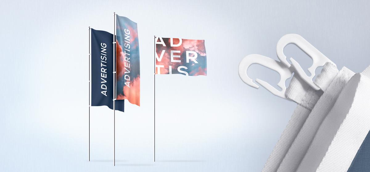 Fahnen und Flaggen in verschiedenen Formaten